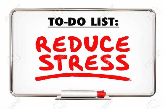 Reduce Stress Writing Words Marker Relax 3d Illustration