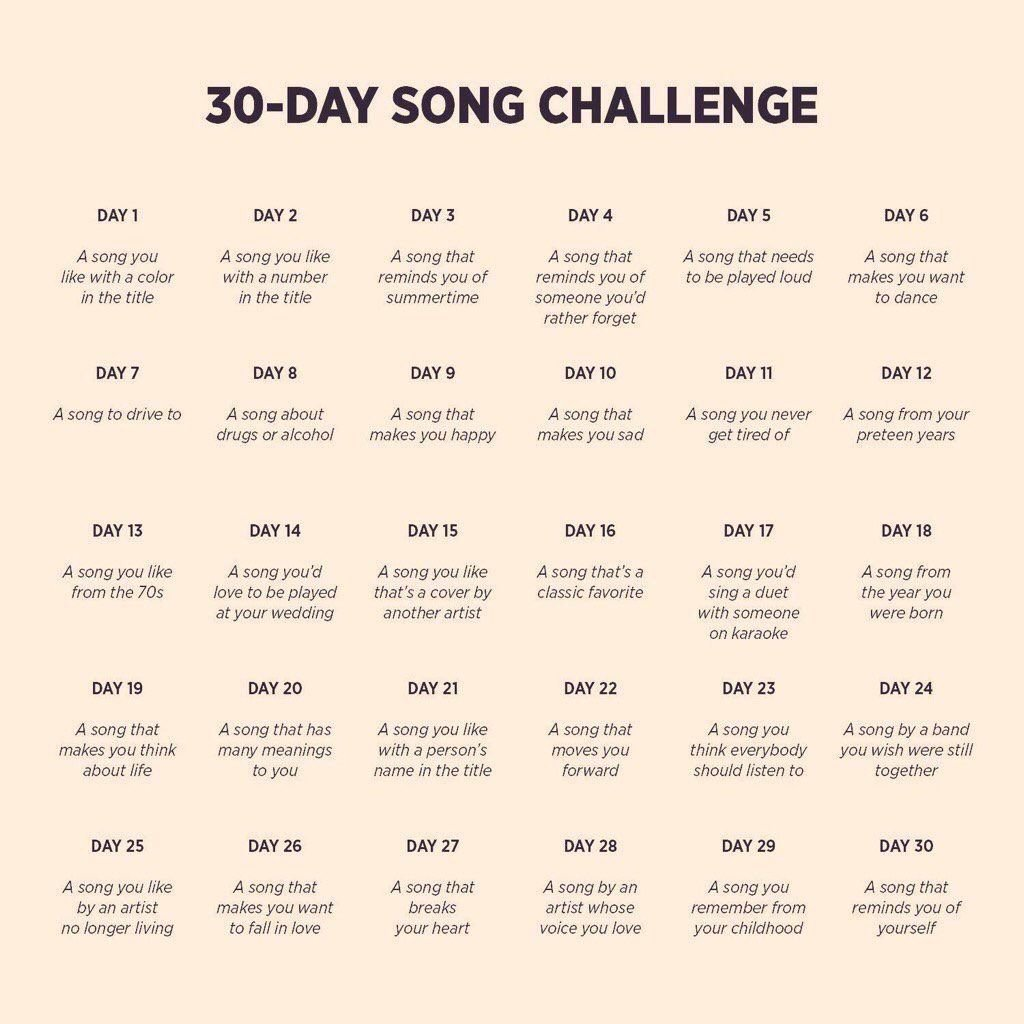 30-Day Song Challenge: Day 21-26 – Denae's Pieces 2 0